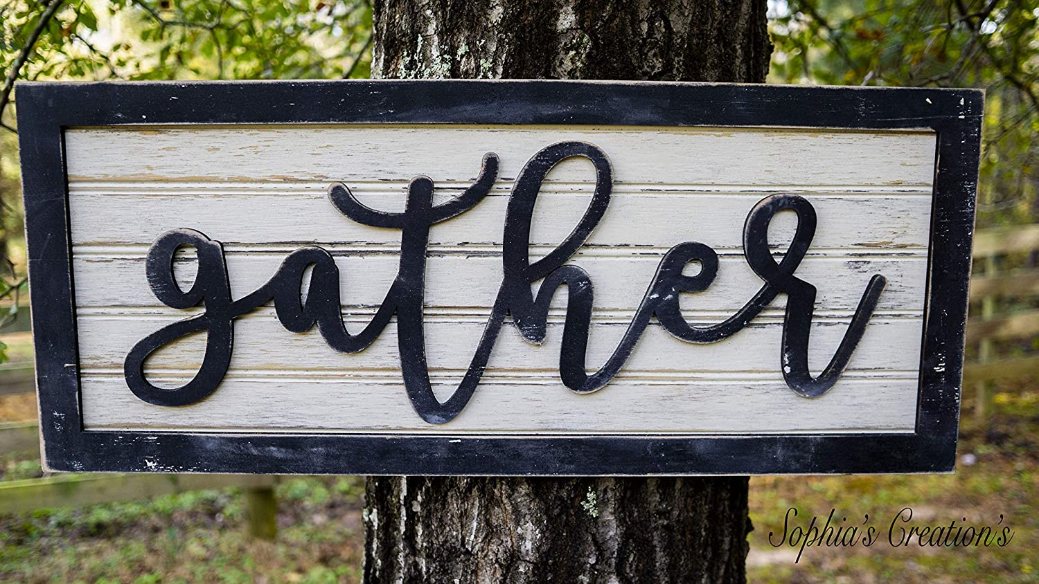 Amazon Com Sophia S Creations Custom Gather Wood Sign Home Decor Gather Hand Crafted Wood Sign House Warming Gift Ideas Wall Decor Gift Ideas Home Kitchen