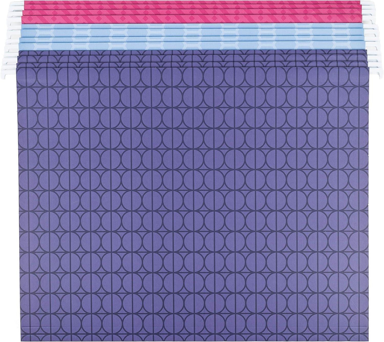 12 St/ück U Brands Moderne H/ängemappen verschiedene Farben