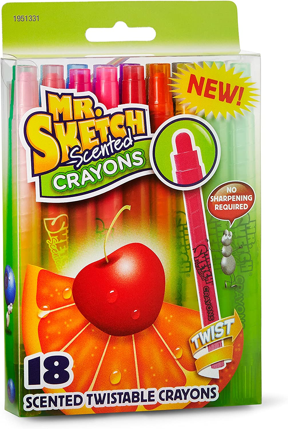 Amazon Com Mr Sketch 1951331 Scented Twistable Crayons Assorted Colors 18 Count Office Products