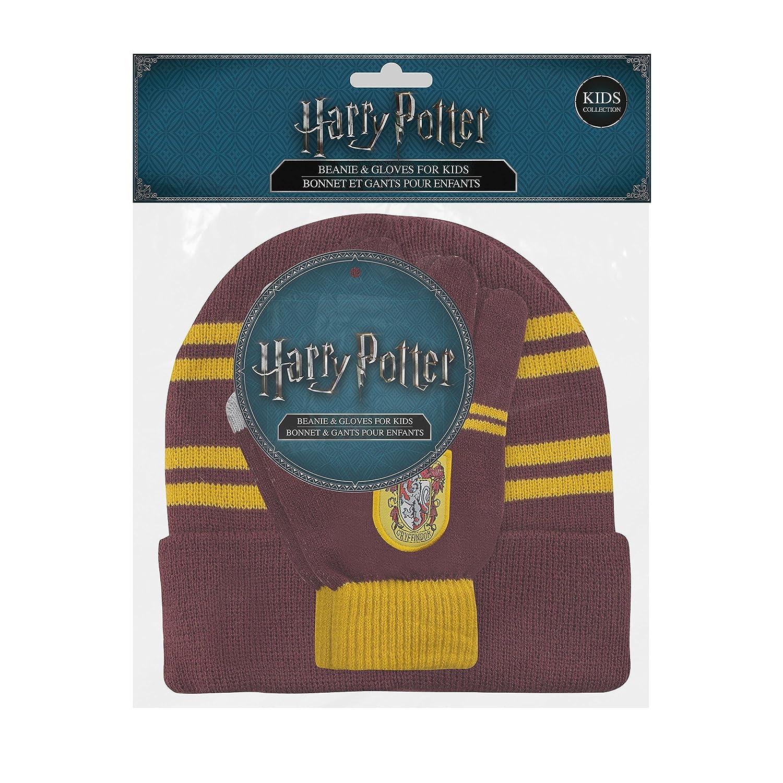 5beb461cf38 Cinereplicas Harry Potter - Set Bonnet   Gants - Enfants (Gryffondor)   Amazon.fr  Vêtements et accessoires