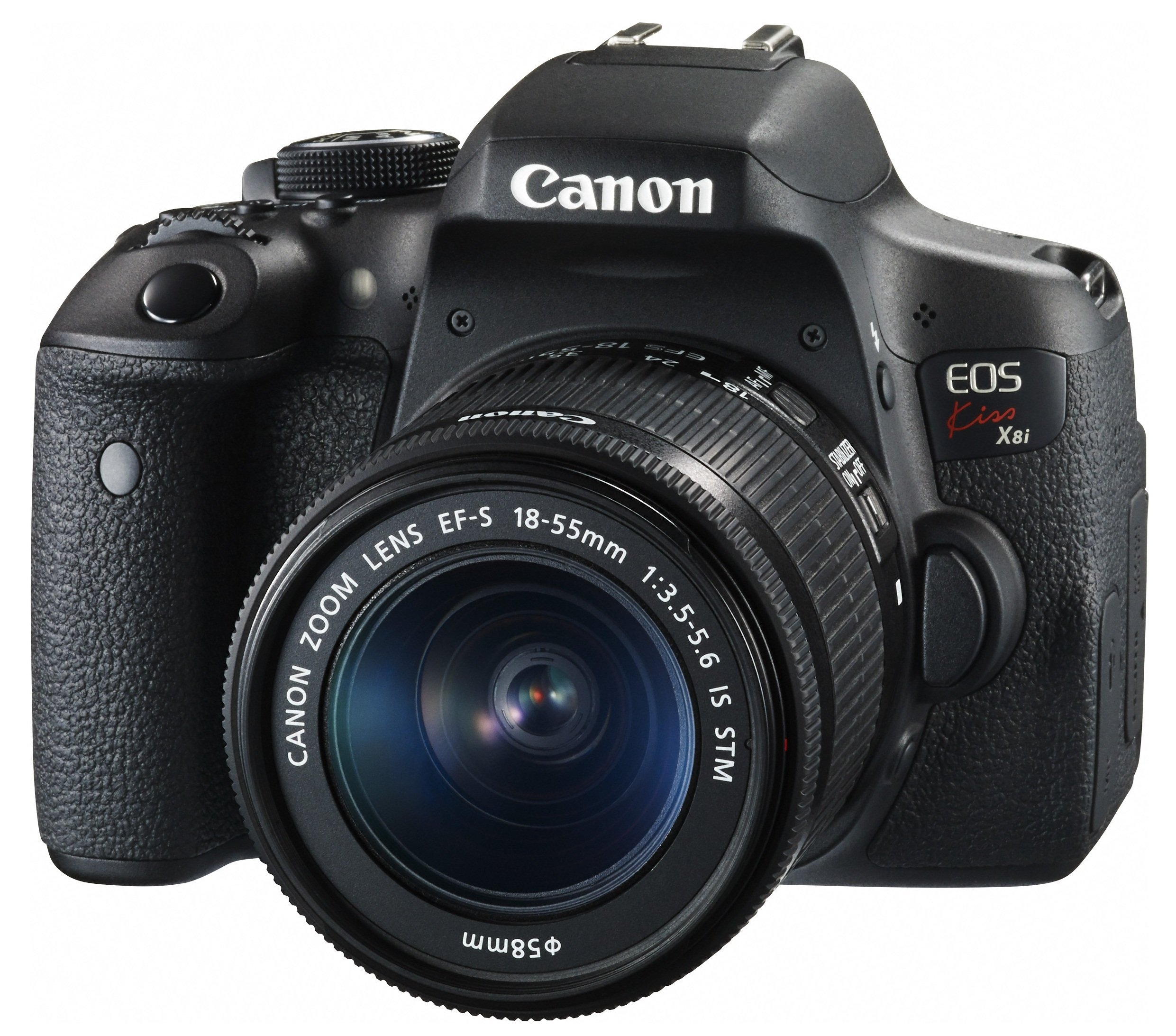 Canon デジタル一眼レフカメラ EOS Kiss X8i レンズキット EF-S18-55mm F3.5-5.6 IS STM 付属 KISSX8I-1855ISSTMLK product image