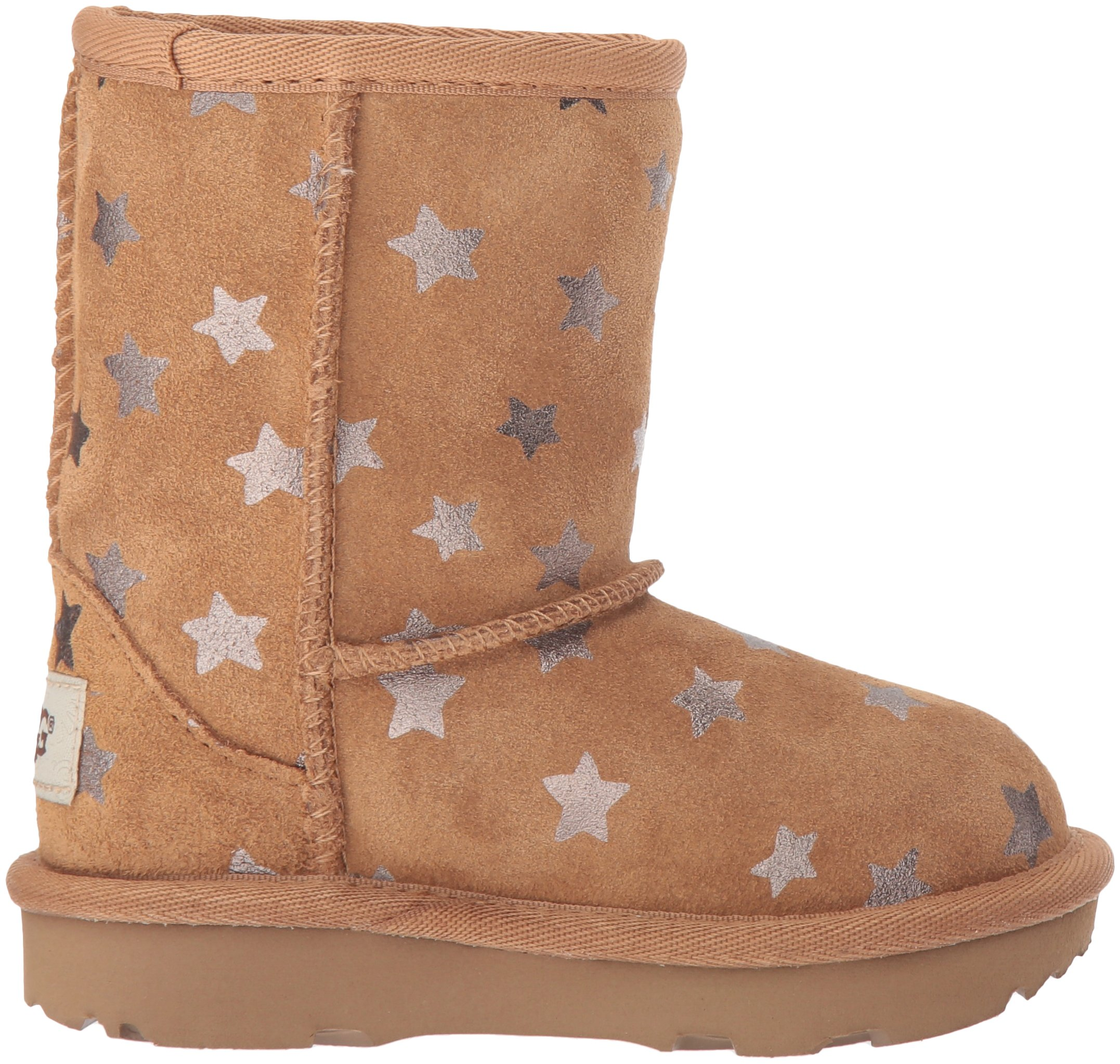 UGG Girls T Classic Short II Stars Pull-On Boot, Chestnut, 7 M US Toddler by UGG (Image #7)