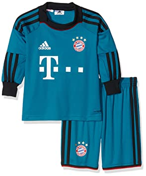 18fbeaf5fa6 adidas Children s Goalkeeper Mini Kit with Jersey FC Bayern Munich Multi- Coloured vivid teal