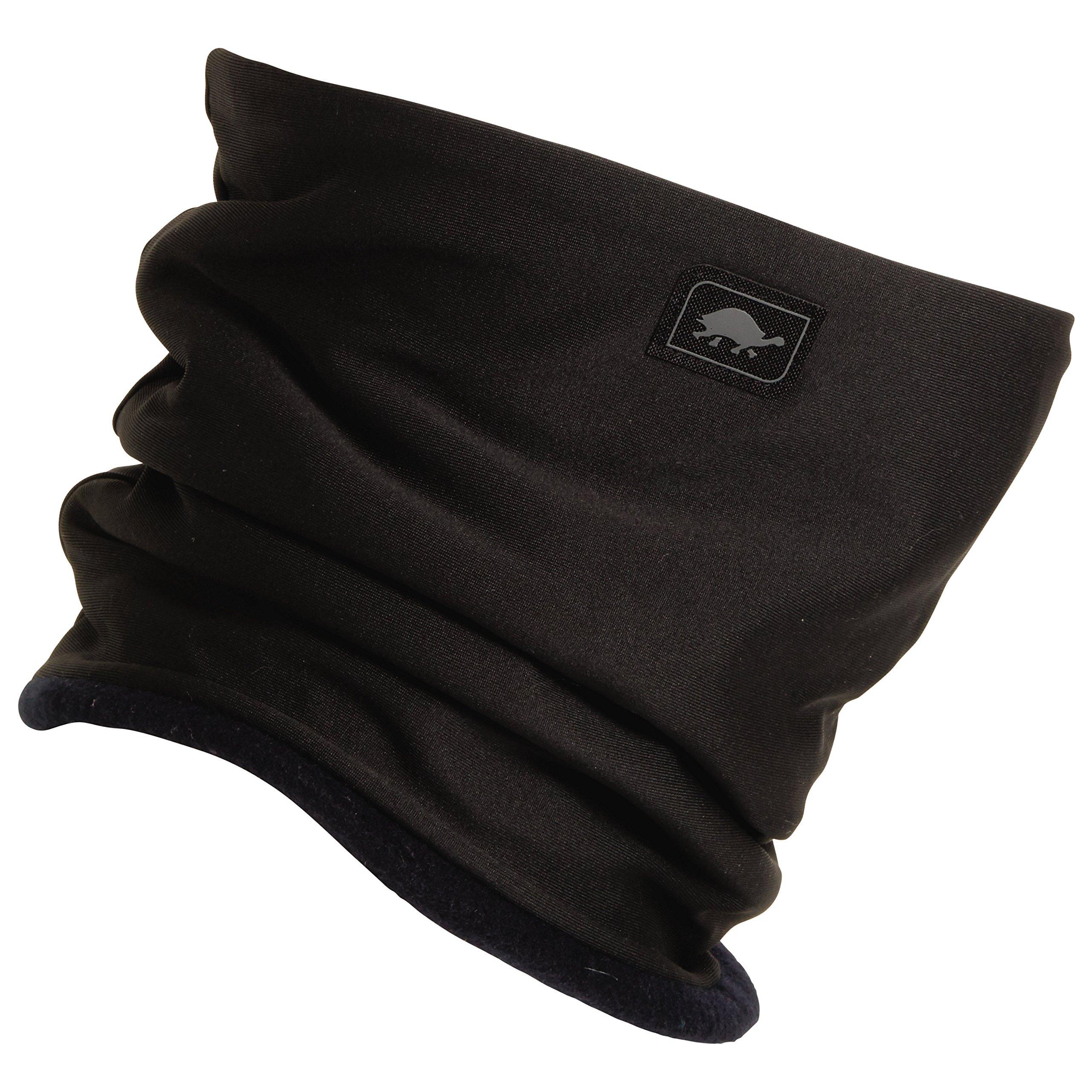 Turtle Fur Original Fleece Neckula, Women's Heavyweight Fleece Lined Neck Warmer, Black