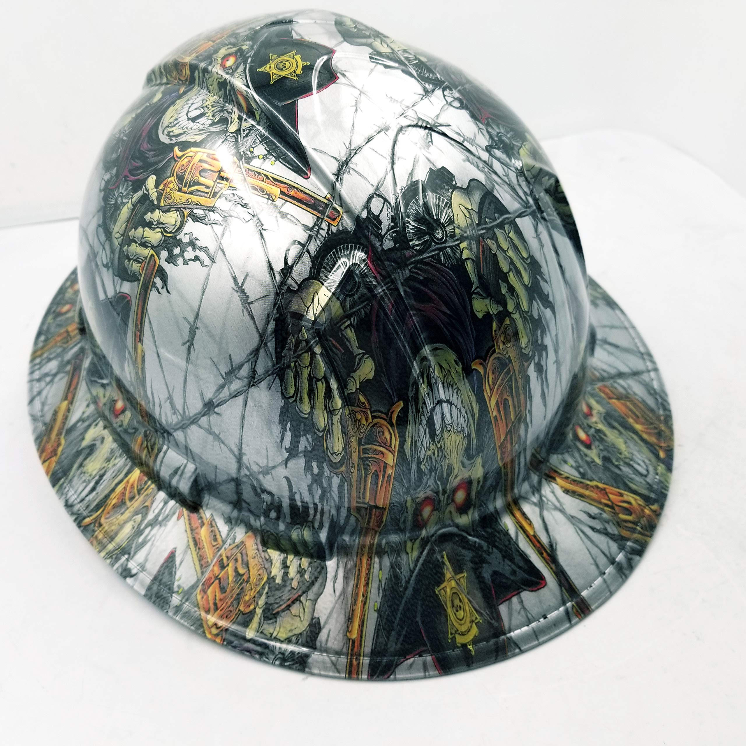 Wet Works Imaging Customized Pyramex Full Brim Dirty Dirty Harry Hard HAT with Ratcheting Suspension Custom LIDS Crazy Sick Construction PPE by Wet Works Imaging (Image #4)