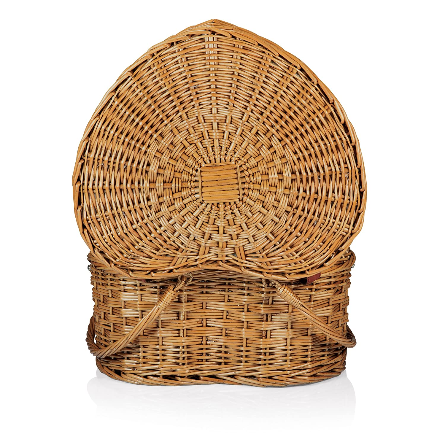 Amazon.com: Picnic Time \'Heart\' Willow Picnic Basket with Deluxe ...