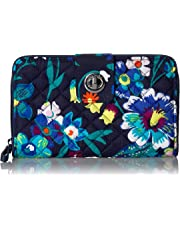 Vera Bradley womens Iconic Rfid Turnlock Wallet, Signature Cotton