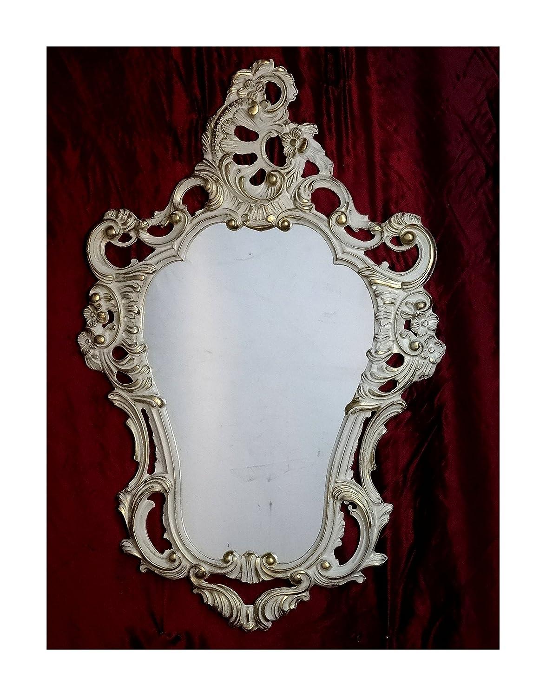 Shabby Chic Weiß-Gold Dulacolor Wandspiegel Spiegel Barock Antik ...
