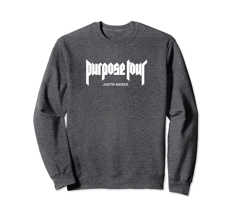 Justin Bieber White Purpose Tour Merch Logo Sweatshirt-alottee gift