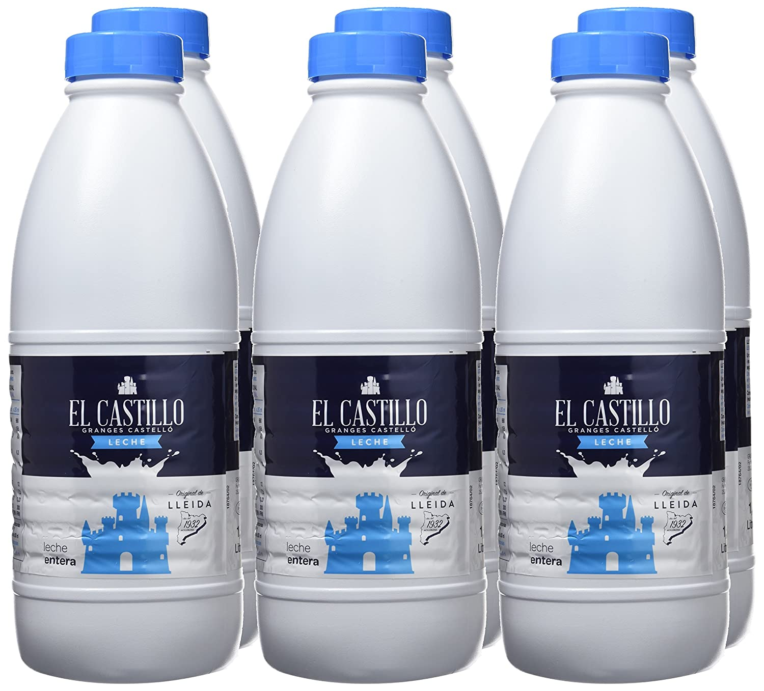 El Castillo Leche Entera - Paquete de 6 x 1500 ml - Total 9000 ml: Amazon.es: Amazon Pantry