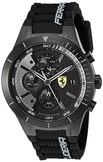 Scuderia Ferrari 0830262 - Reloj de Pulsera Hombre, Silicona, Color Negro: Amazon.es: Relojes