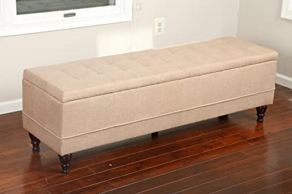 Home Life 59u0026quot; X 17u0026quot; Extra Long Front Of Bed Storage Lift Top Bench