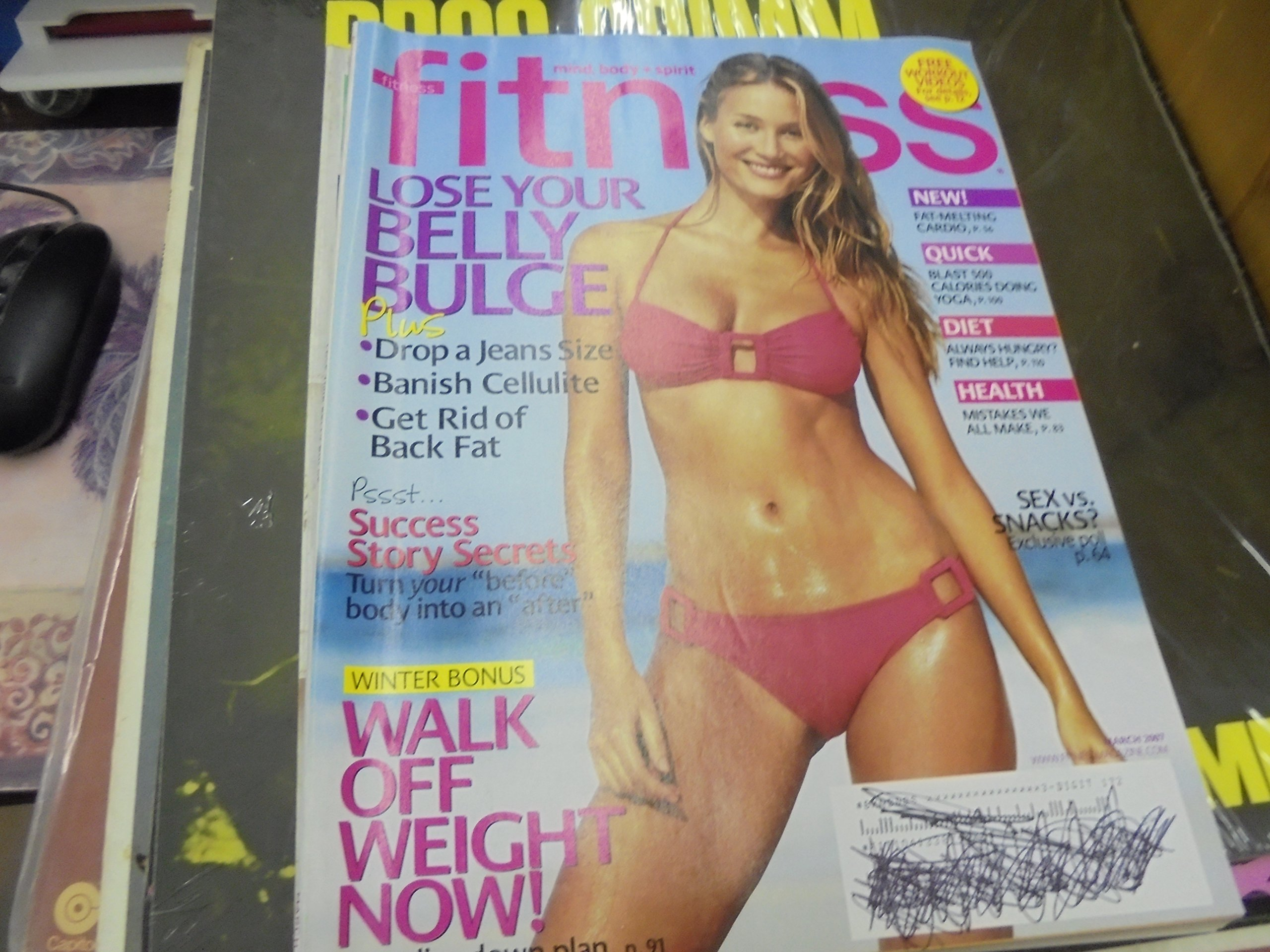 Fitness Magazine - March 2007: Vanessa Lorenzo, Stress ...
