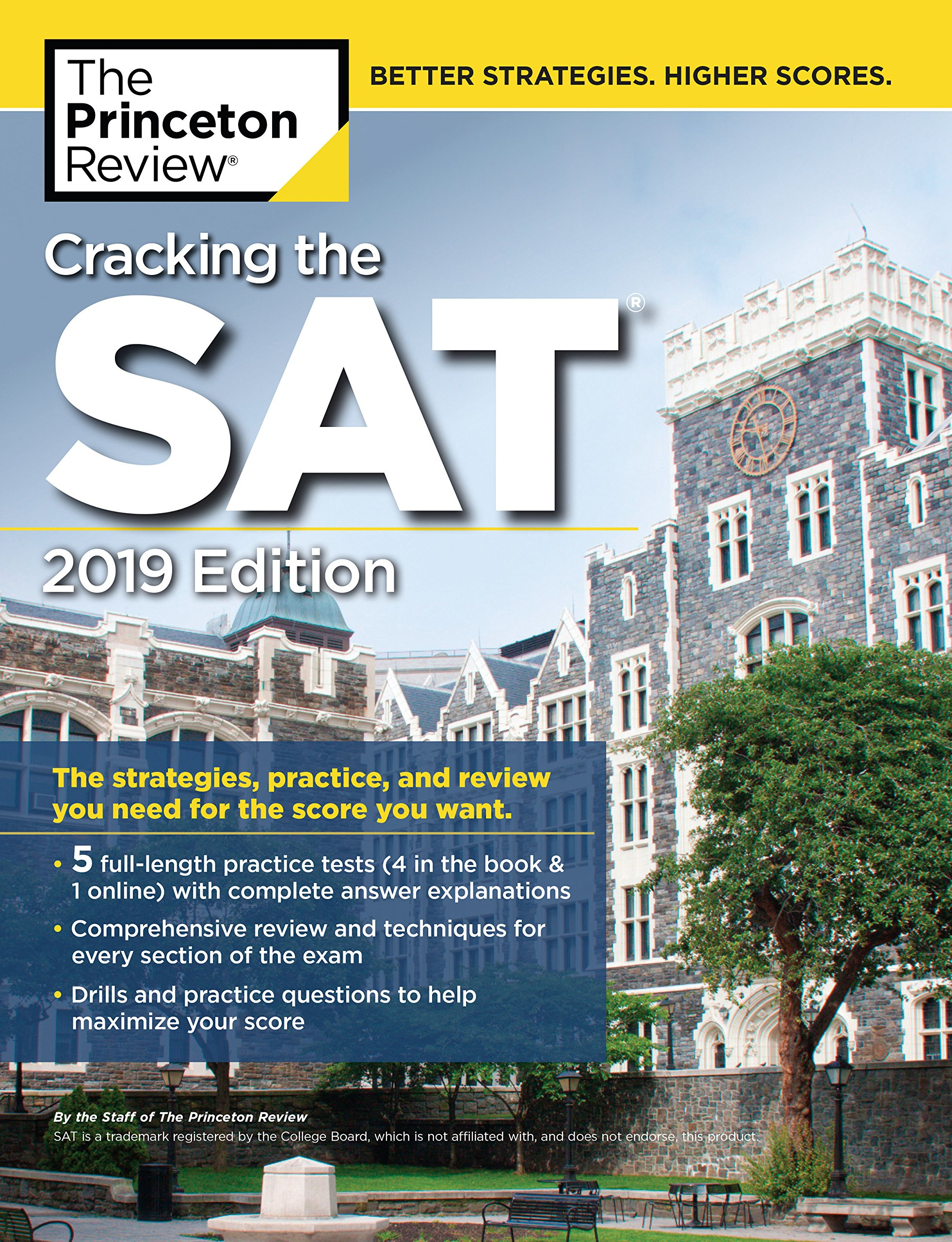Amazon.com: Cracking the SAT with 5 Practice Tests, 2019 Edition ...