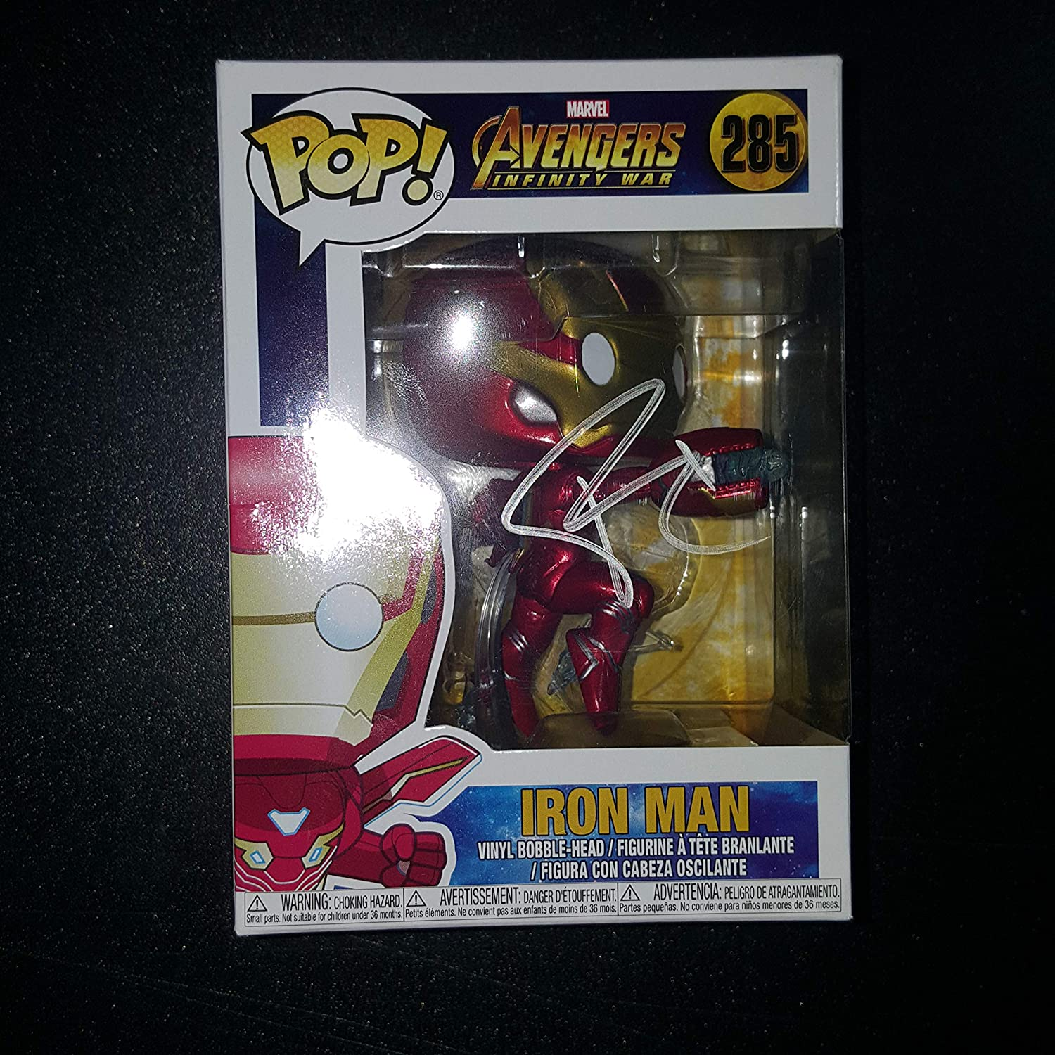 ROBERT DOWNEY JR - Autographed Signed IRON MAN FUNKO POP 285 Vinyl Figure AVENGERS INFINITY WAR