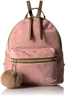 f2d5a761838b Amazon.com: Dream Control Ultra Soft Velvet w Pom Pom Mini Backpack ...