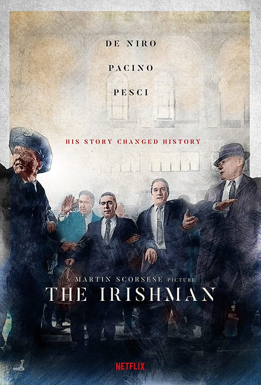 The Irishman Poster Print Art Poster Wall Art Print Gift Poster Canvas Printing Wall Decor (S)