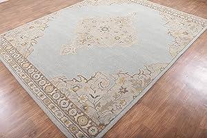 Rug & Home Alexander Blue Traditional Persian Oriental Woolen Area Rugs (8'x10')