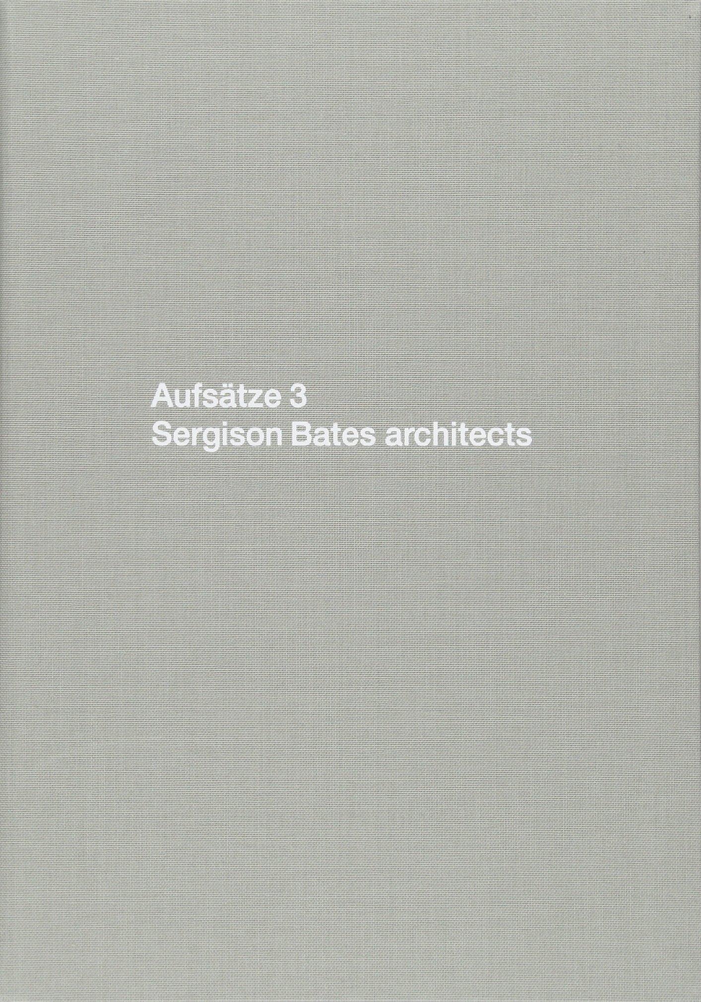 Papers 3: Sergison Bates Architects (German Edition) pdf epub
