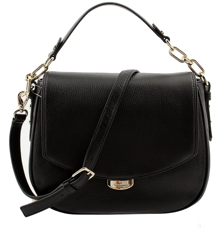 2986bf92c8 Amazon.com  Kate Spade Mulberry Street Alecia Pebbled Black Leather  Shoulder Bag