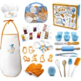 The Sneaky Chef Kids Cooking/Baking Set 37 Piece BPA Free, Child-Safe Essential Junior Utensils, Cooking Protection…