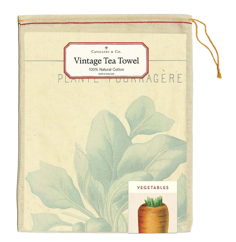 Cavallini Vintage Vegetables Cotton Tea Towel Cavallini Papers /& Co