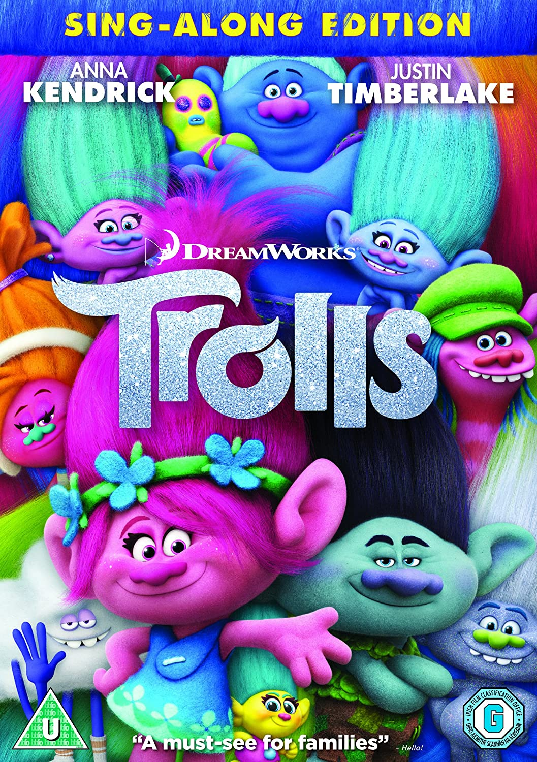 Trolls [DVD]: Amazon.co.uk: Anna Kendrick, Zooey Deschanel, Justin  Timberlake, Mike Mitchell, Walt Dohrn, Gina Shay: DVD & Blu-ray