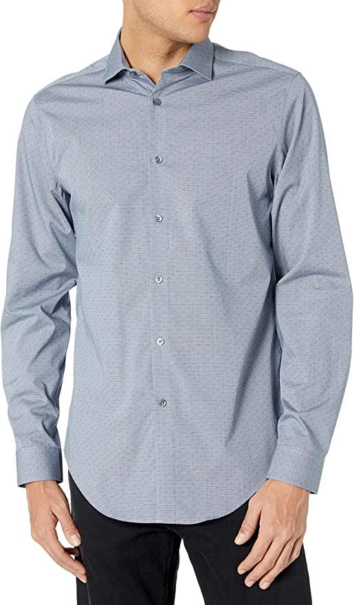 Calvin Klein 卡尔文克莱因 CK 修身款 免熨 男式长袖衬衫 2.5折$19.87 海淘转运到手约¥153
