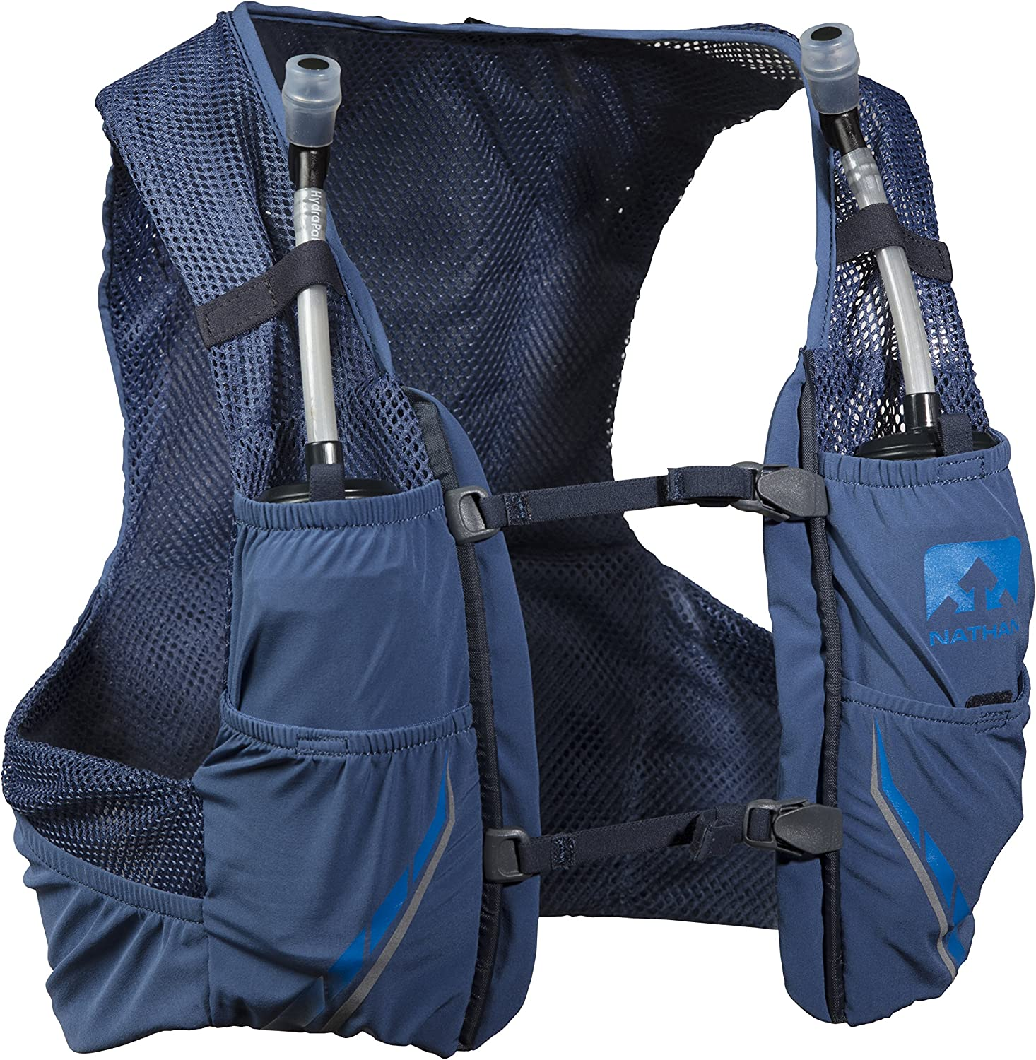 Nathan NS4544-0377-35 Male 2.5L Running Hydration Packs, True Navy Blue Nights, X-Large