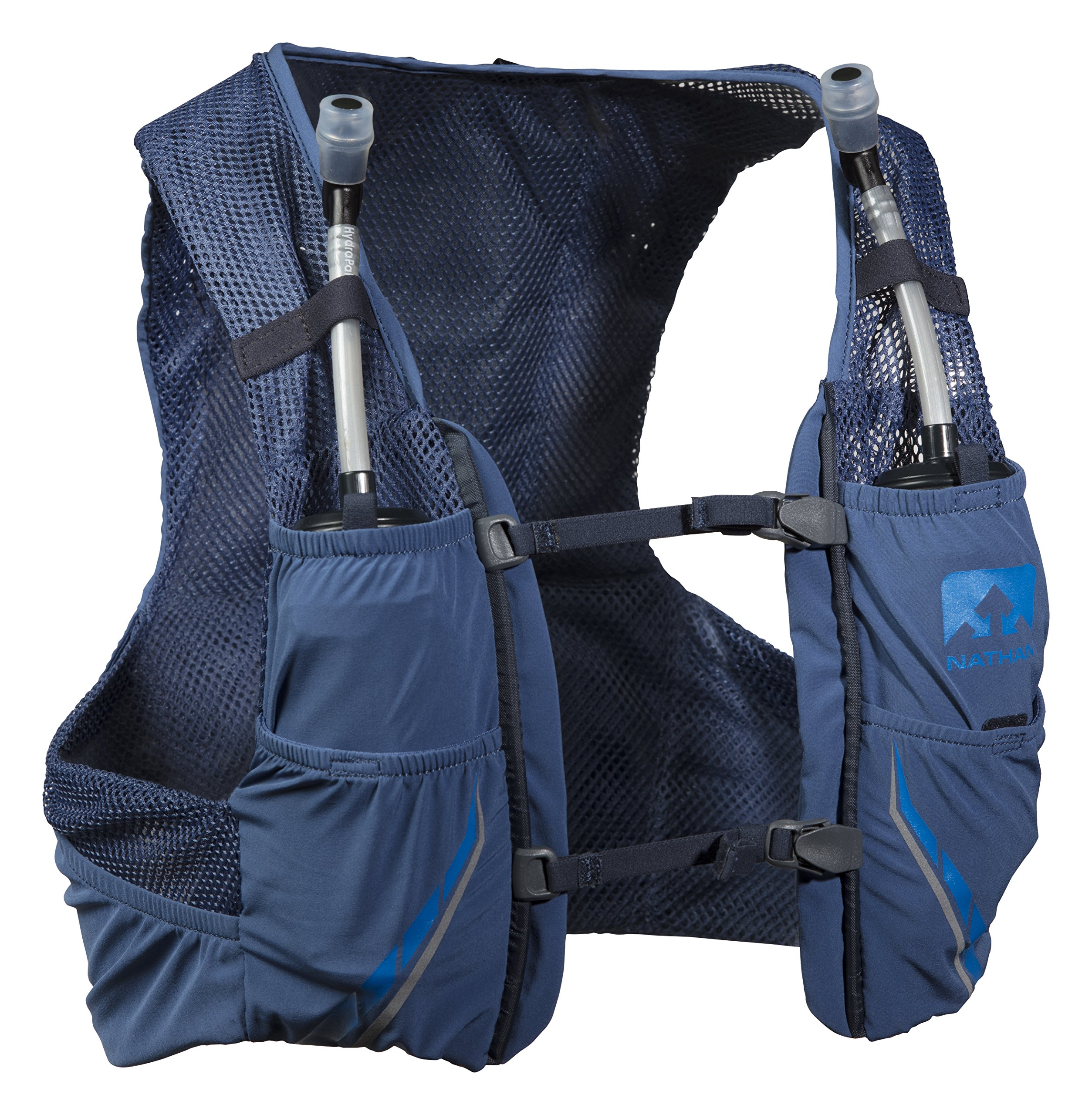 Nathan NS4544-0377-34 Male 2.5L Running Hydration Packs, True Navy/Blue Nights, Large