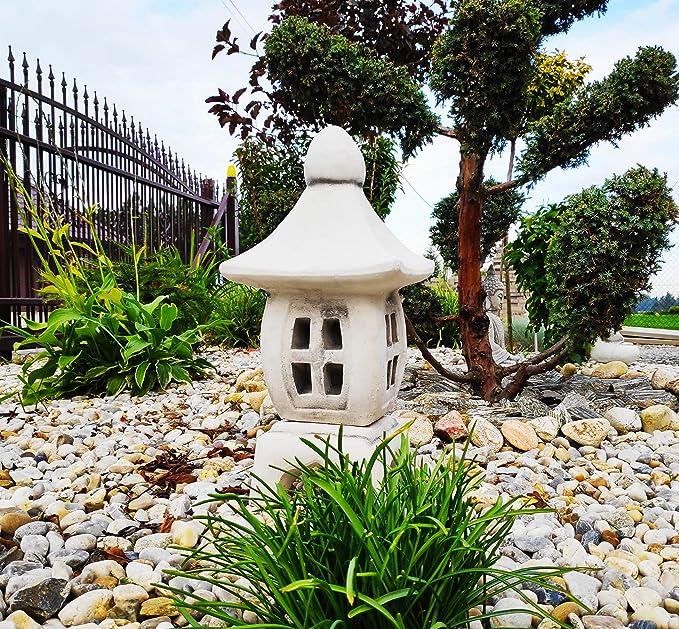 Adorno de jardín - Piedra Pagoda/Linterna de Estilo japonés Yukimi Oki Gata: Amazon.es: Jardín