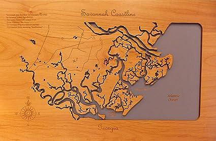 Amazon.com: Wood Map Wall Hanging: Savannah Georgia ... on georgia beach map, georgia land map, georgia on a map, georgia rain map, georgia fishing map, georgia hurricane map, georgia coastal map of florida, georgia ocean map, evans georgia map, georgia water map, georgia town map, georgia offshore map, georgia city map, georgia history map, georgia forests map, georgia beach towns, georgia bordering states map, georgia blue map, georgia coastal islands, georgia island map,
