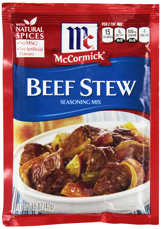 McCormick Beef Stew Seasoning Mix, 1.5 oz (Pack of 12)