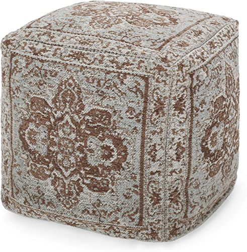 Christopher Knight Home Madeline Hand-Loomed Fabric Cube Pouf