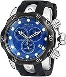 Invicta Men's Venom Quartz Watch with Blue Dial Chronograph Display and Black PU Strap 16149