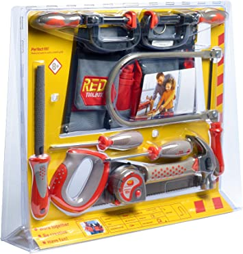 Red Toolbox Toys Kids Carpentry Tools