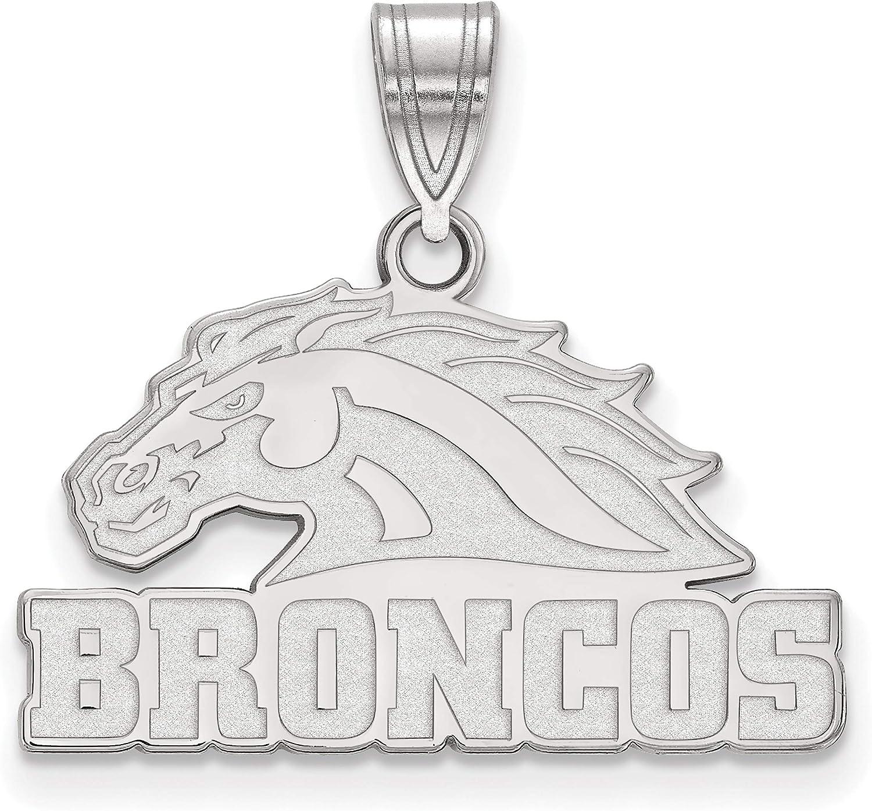 14k White Gold Western Michigan University Broncos Mascot Head Pendant 15x19mm