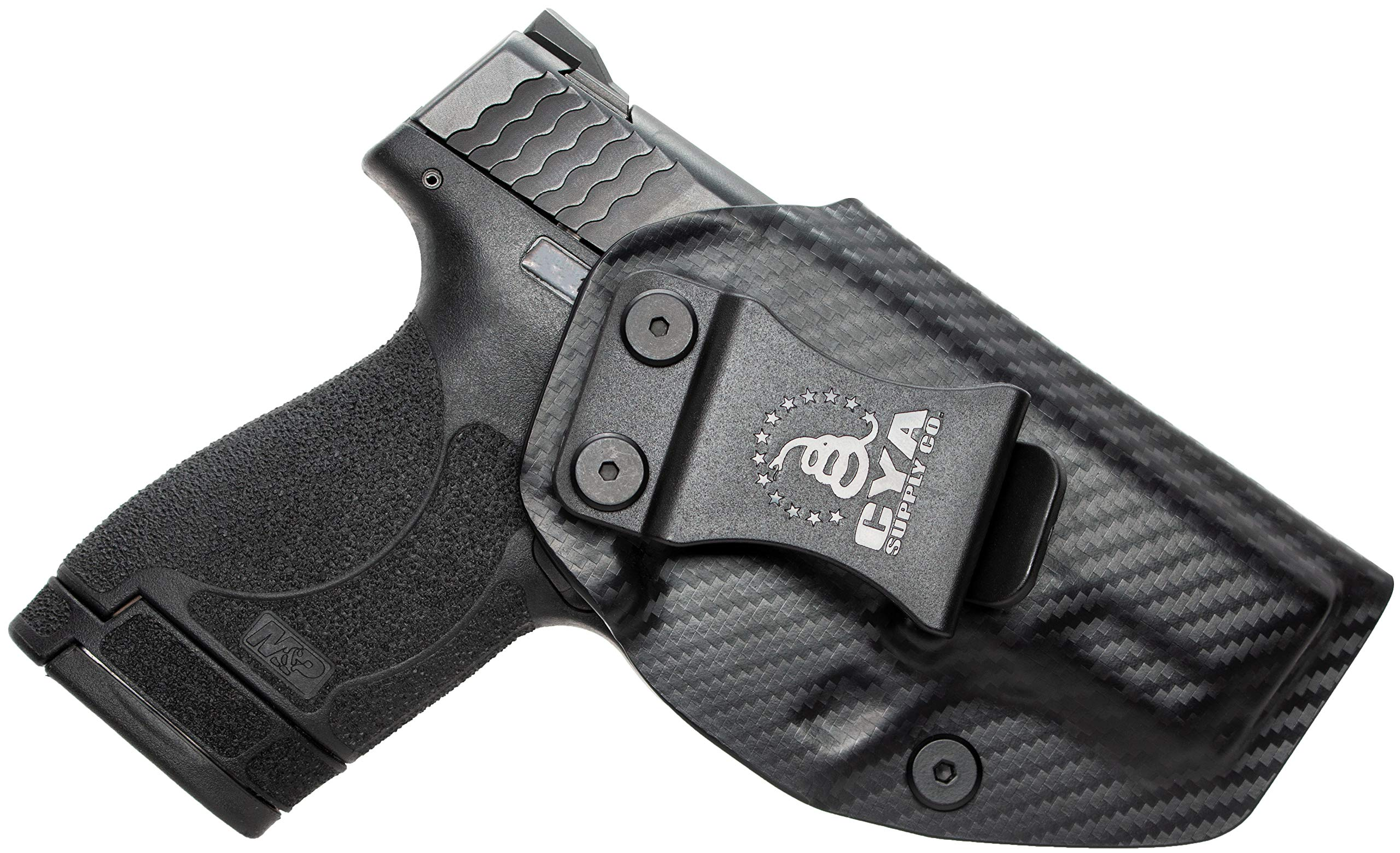 CYA Supply Co. IWB Holster Fits: Smith & Wesson M&P Shield & Shield 2.0-9MM/.40 S&W - Veteran Owned Company - Made in USA - Inside Waistband Concealed Carry Holster by CYA Supply Co.