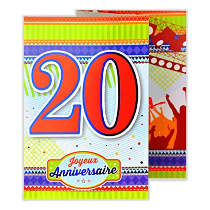 afie 882124 b 3 fold card happy anniversary 20 years