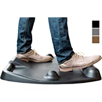 CubeFit Terramat | The Original Anti Fatigue Standing Desk Mat with Built-in Acupuncture Balance Bar for 11 Possible stances! [Must-Have for Any Standing Desk] (Black)