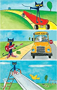Educational Insights The Original Pete the Cat Decorative Light Filters 3-Pack, Reduce Glare & Flicker, Easy Setup for Office, Hospitals, Home & Classrooms