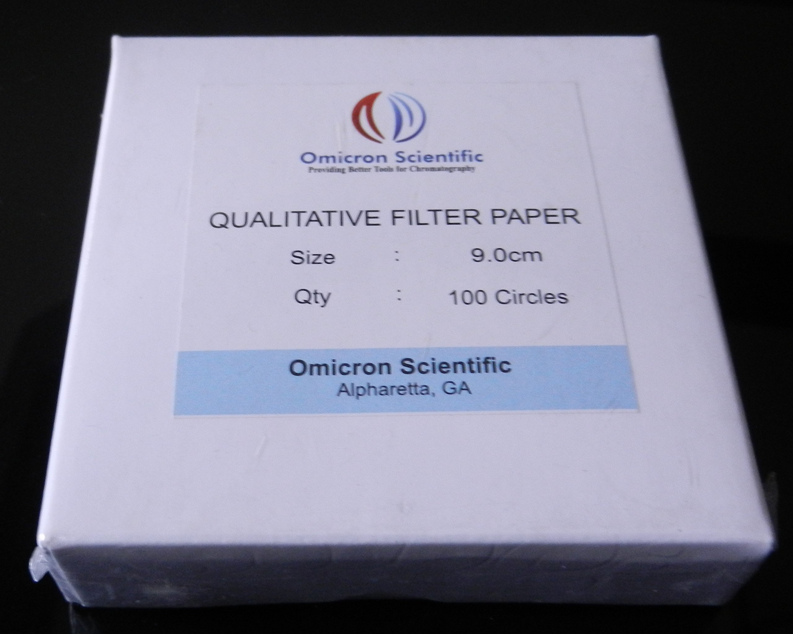 Omicron 101090 Qualitative Filter Paper (Similar to Grade 1) 9cm(90mm), 1000/Pk