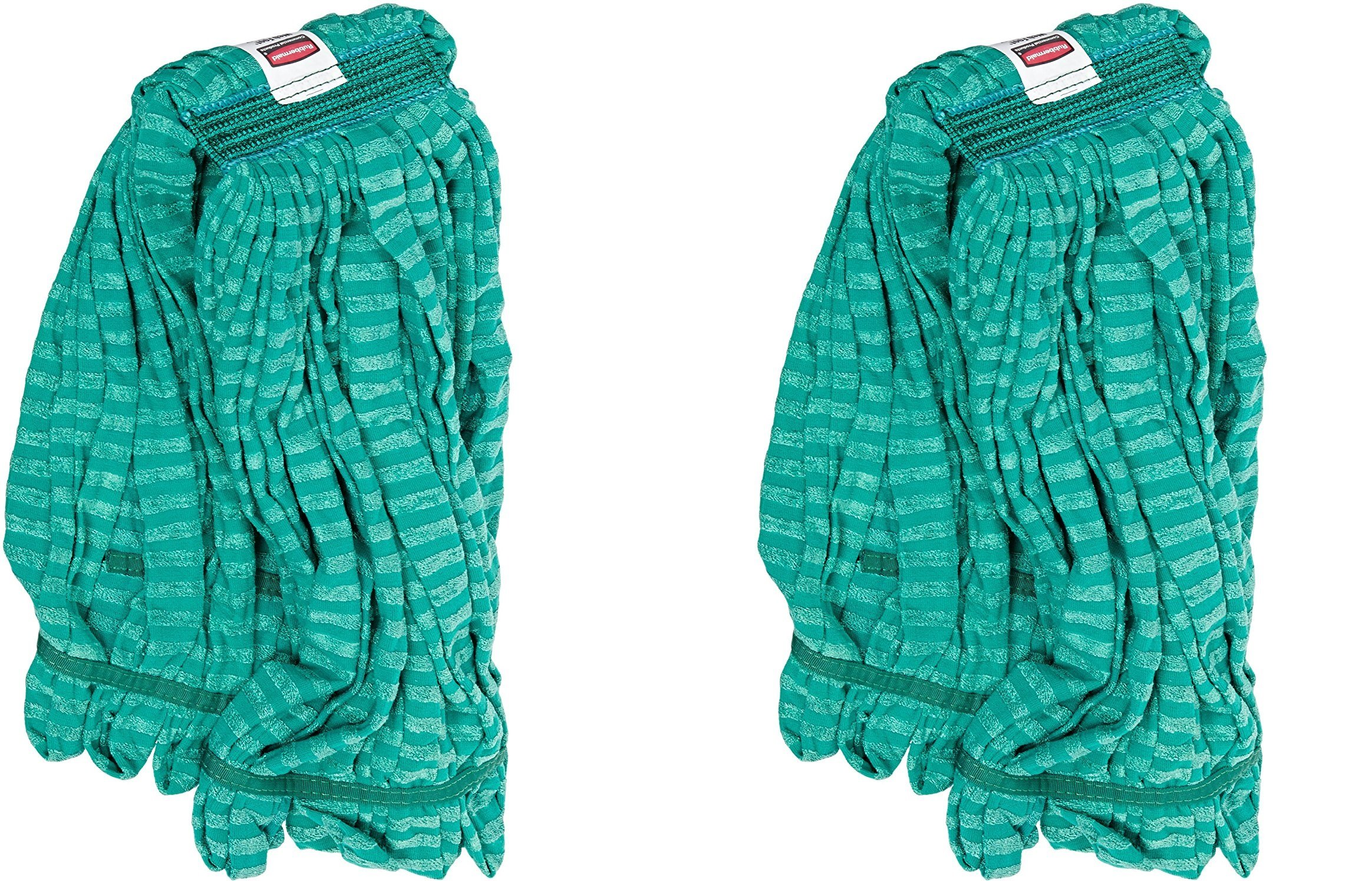 Rubbermaid Commercial Web Foot Microfiber Tube Mop, Large, Green, FGT81306GR00 (2 PACK)