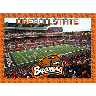 Oregon State Beavers Jigsaw Puzzle : Item Type Keyword Refrigerator Magnets : Sports & Outdoors
