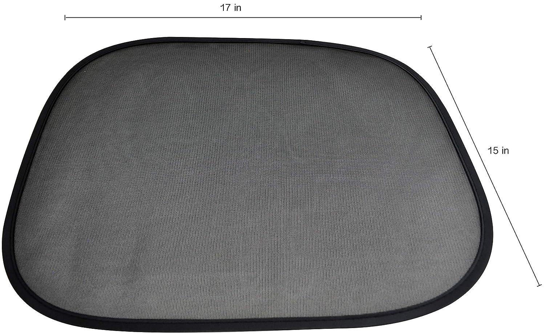 "PAN SHIN PRODUCT CO PNS Car Sun Shade for Side and Rear Windows- Car Sunshade Sun Protector 2-Piece Set 4350391221 68.2/% IR of Sun Glare and Heat- Size 17/"" x 15/"" Car Window Stick Easy to Install- Block Over 97/% UV LTD"