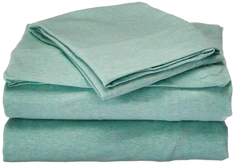 Urban Habitat Heathered Cotton Jersey Knit Sheet Set Charcoal Full UH20-2067