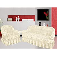 NAKUK HOME COLLECTION Sofa Slip Cover 3 2 1 Seater Jacquard Material - Universal Elastic Fitting
