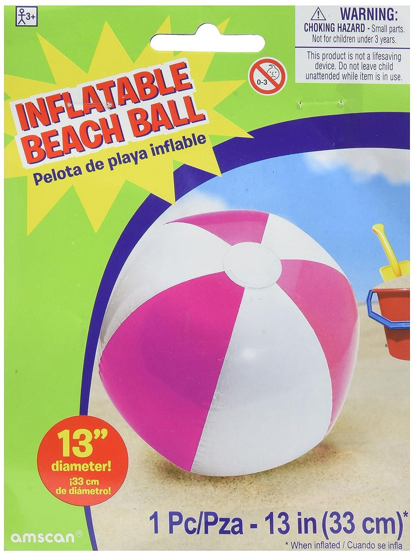 beach ball inflatble pink Amscan 391944