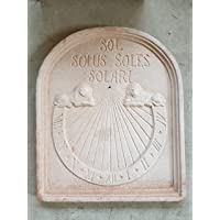 MERIDIANA SOLARE IN TERRACOTTA FATTA A MANO (NON COMPRESA DI GNOMONE); ALTEZZA CM. 58, LARGHEZZA CM. 49