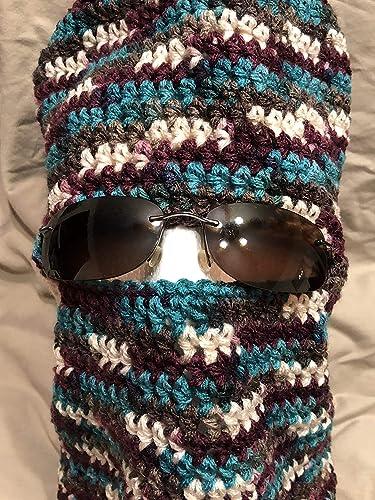 Amazon Unisex Crochet Ski Mask Cap Converts To Beanie Cap